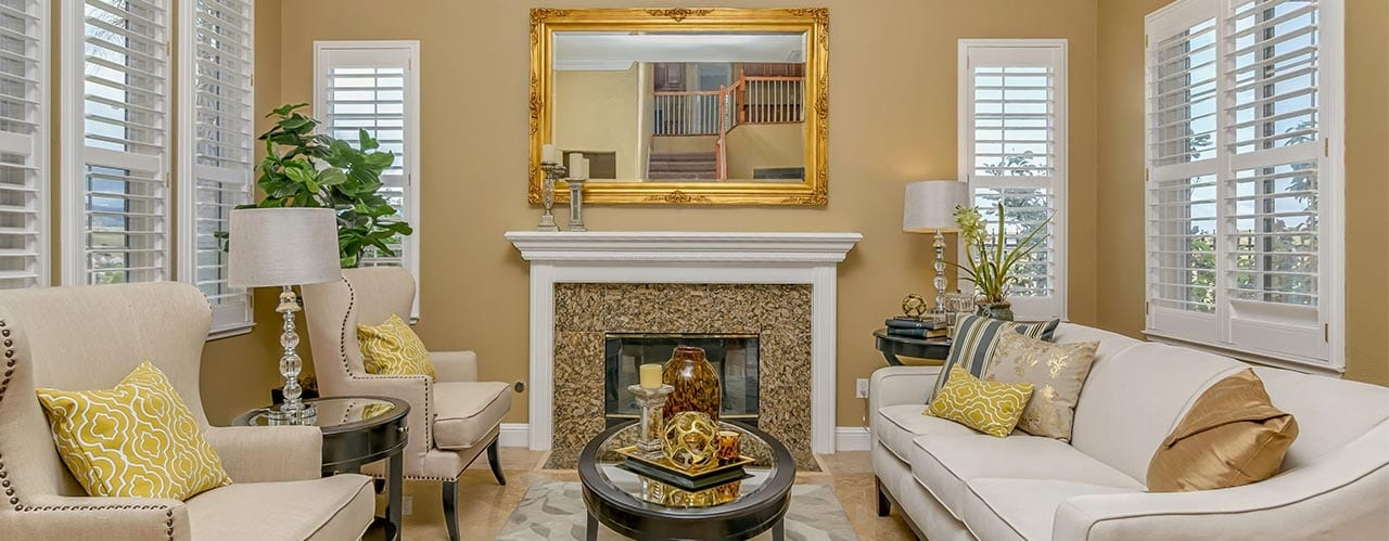 """Living room """"staged"""" by Heather's Houses"""