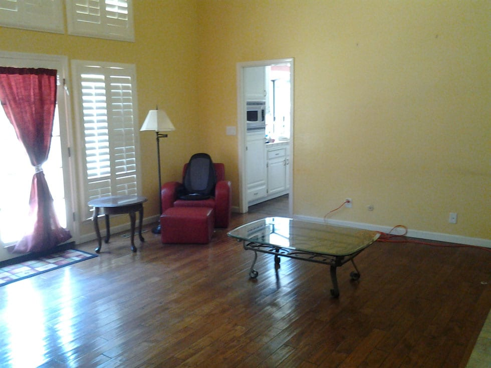 Living Spaces Before staging